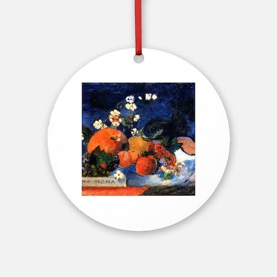 Funny Paul gauguin Round Ornament