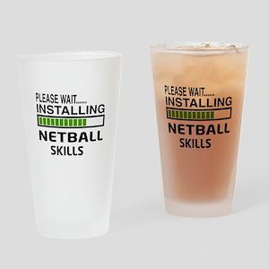 Please wait, Installing Netball Ski Drinking Glass