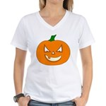 Jack-O-Lantern Women's V-Neck T-Shirt