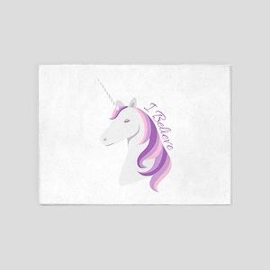 Unicorn Believe 5'x7'Area Rug