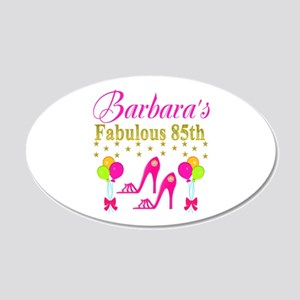 85TH PERSONALIZED 20x12 Oval Wall Decal