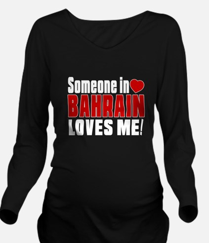 Someone In Bahrain L Long Sleeve Maternity T-Shirt