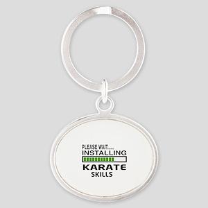 Please wait, Installing Karate Skill Oval Keychain
