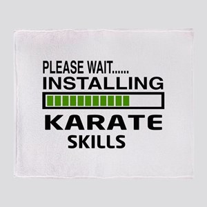 Please wait, Installing Karate Skill Throw Blanket