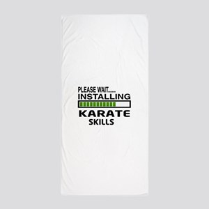 Please wait, Installing Karate Skills Beach Towel