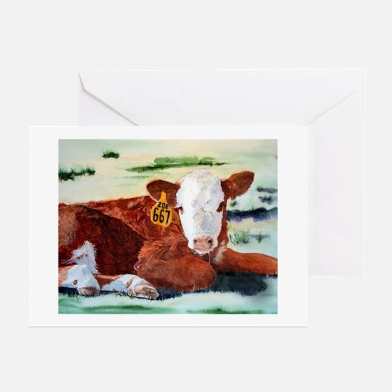 puzzcalf Greeting Cards