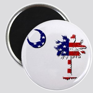 Stars and Stripes Palmetto Shadow Magnets