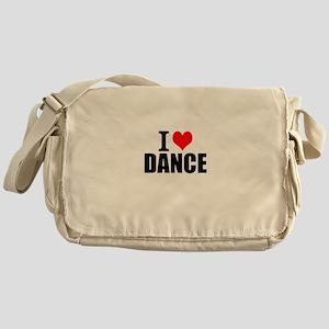 I Love Dance Messenger Bag