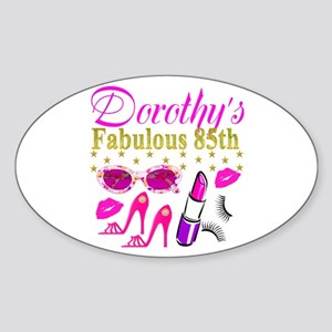 85TH PERSONALIZED Sticker (Oval)