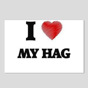 I Love My Hag Postcards (Package of 8)
