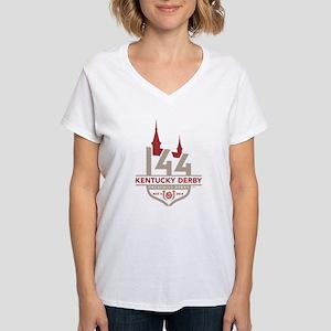 Kentucky Derby 144 Logo Women's V-Neck T-Shirt