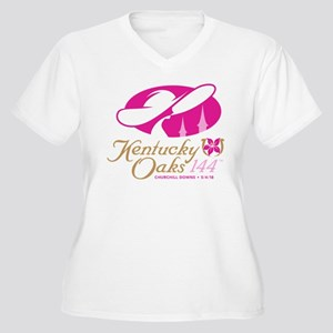 Official KY Oaks Women's Plus Size V-Neck T-Shirt
