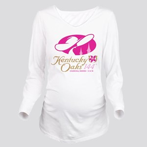 Official KY Oaks Log Long Sleeve Maternity T-Shirt