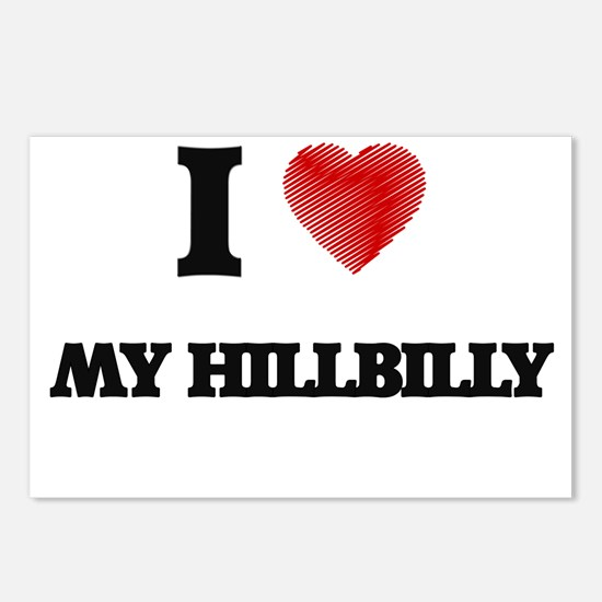 I Love My Hillbilly Postcards (Package of 8)