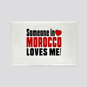 Someone In Morocco Loves Me Rectangle Magnet