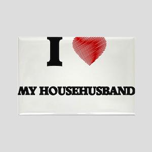 I Love My Househusband Magnets