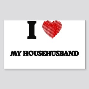 I Love My Househusband Sticker