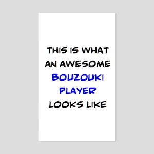 awesome bouzouki player Sticker (Rectangle)