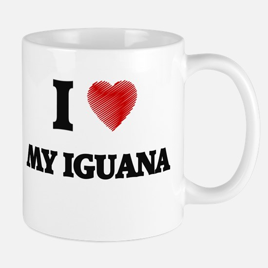 I Love My Iguana Mugs