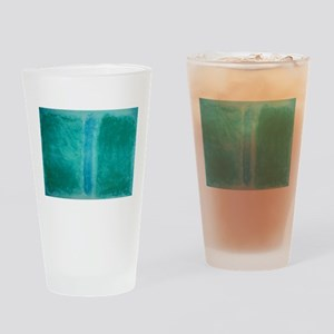 ROTHKO IN TEAL Drinking Glass