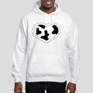 Cow Print Heart Sweatshirt