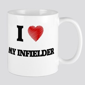I Love My Infielder Mugs