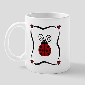 Ladybug Hearts Mug