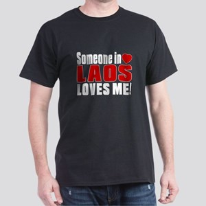 Someone In Laos Loves Me Dark T-Shirt