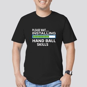 Please wait, Installin Men's Fitted T-Shirt (dark)