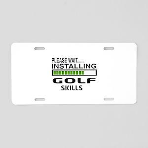 Please wait, Installing Gol Aluminum License Plate