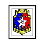 USS Texas (CGN 39) Framed Panel Print