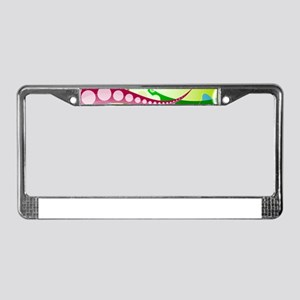 Abstract Landscape License Plate Frame