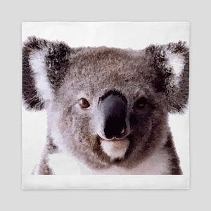 Large Happy Koala Bear Smiling Queen Duvet