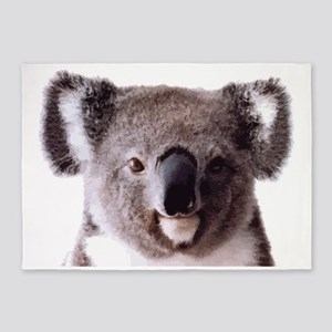 Large Happy Koala Bear Smiling 5'x7'Area Rug