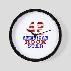 42 American Rock Star Wall Clock
