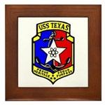USS Texas (CGN 39) Framed Tile