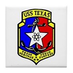 USS Texas (CGN 39) Tile Coaster