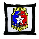 USS Texas (CGN 39) Throw Pillow