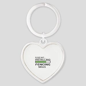 Please wait, Installing Fencing Ski Heart Keychain