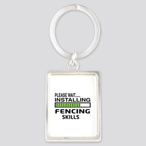 Please wait, Installing Fencing Portrait Keychain