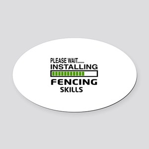 Please wait, Installing Fencing Sk Oval Car Magnet