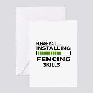 Please wait, Installing Fencing Skil Greeting Card