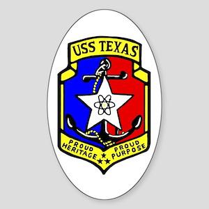 USS Texas (CGN 39) Oval Sticker