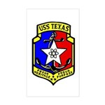 USS Texas (CGN 39) Rectangle Sticker
