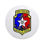 USS Texas (CGN 39) Ornament (Round)