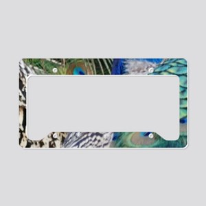 Two Peacocks Side By Side License Plate Holder