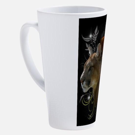 Cute Cougars and kittens 17 oz Latte Mug