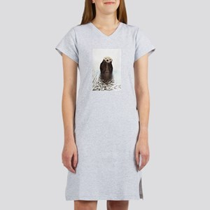 Bashful Sea Otter Women's Cap Sleeve T-Shirt