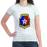 USS Texas (CGN 39) Jr. Ringer T-Shirt