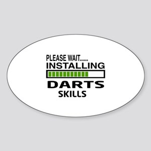 Please wait, Installing Darts Skill Sticker (Oval)